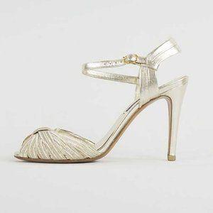Ralph Lauren White Gold Sandals - 8.5US